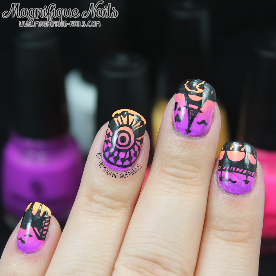 Magically Polished Nail Art Blog Mani Swap A Night In Paris Nails