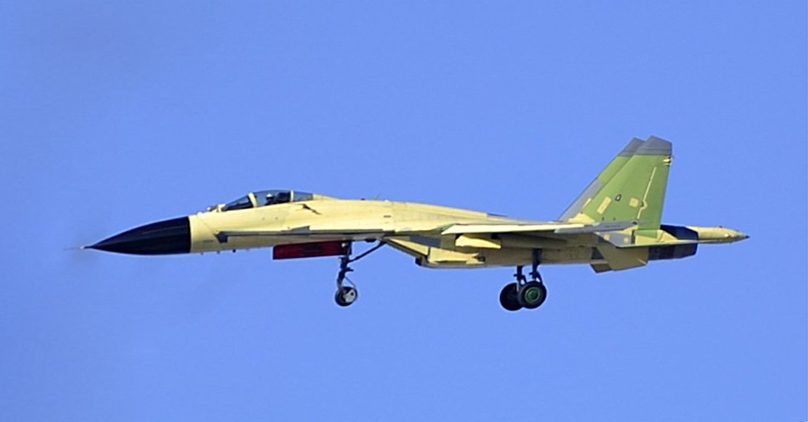 The new build Shenyang J-11 Flanker B+ air superiority fighter jet ...