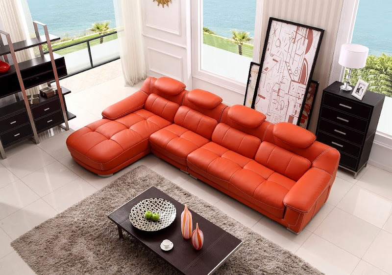 Modern Top Grain Leather Sectional Sofa (5 Image)
