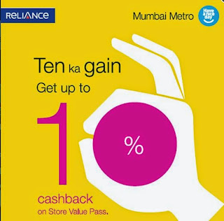Mumbai Metro 10% Cash Back Offer plus 100 % Refund offer available on October 2015