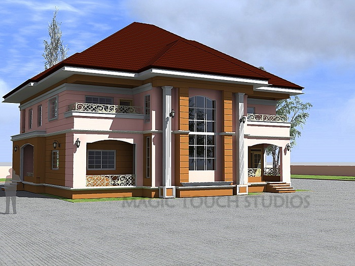 4 bedroom duplex residential homes and public designs for 4 bedroom house designs in nigeria