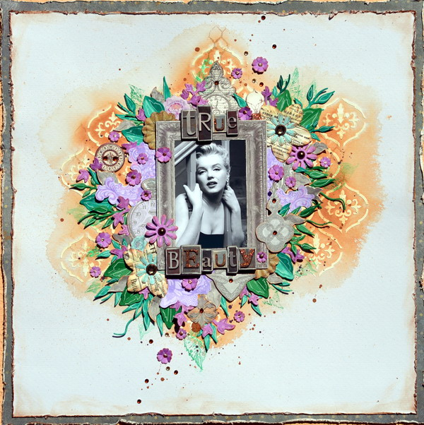 True Beauty Layout by Denise van Deventer using Penny Emporium