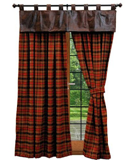 red-plaid-curtains