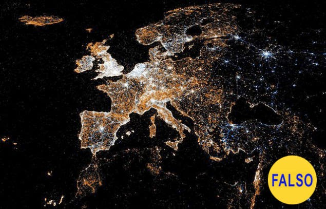 Europa, de noche