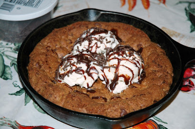 Chocolate Chip Cookie Sundae fetured on BBQ Block Party by Easy Life Meal & Party Planning