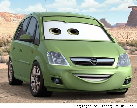 opel meriva pixar cars