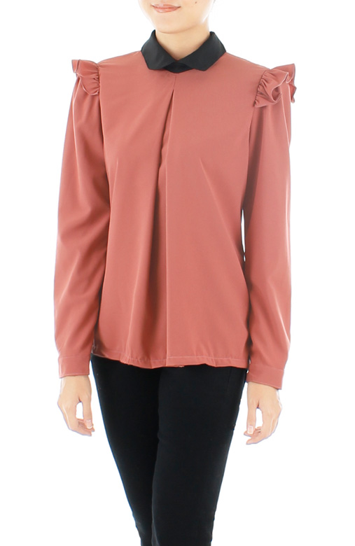 Hidden Secrets Long Sleeve Blouse – Damask Pink