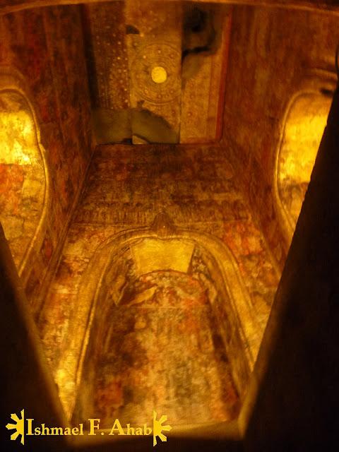 Crypt of Wat Ratchaburana in Ayutthaya Historical Park, Thailand