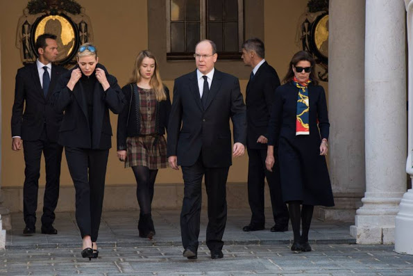 Monaco Royals Observe A Minute Of Silence To Remember Paris Victims