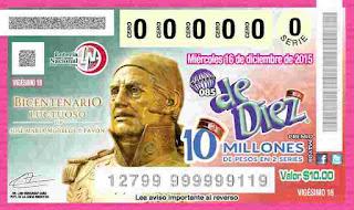 sorteo De Diez con premio de 10 millones de pesos