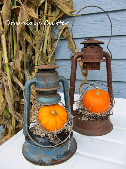 Vintage Rustic Fall Lanterns