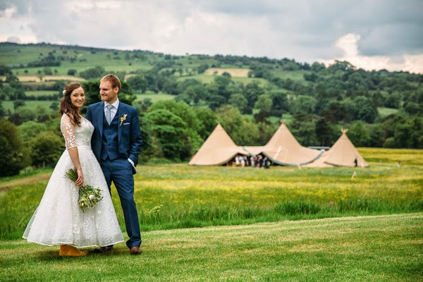 Tipi wedding in Derbyshire.