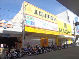 Loja Aliança de Ouro na Rua São Pedro.