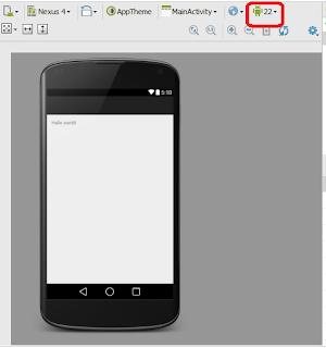 langkah keenam membuat aplikasi dengan android studio