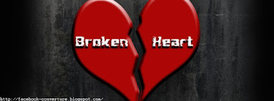 Belle image de couverture facebook broken heart
