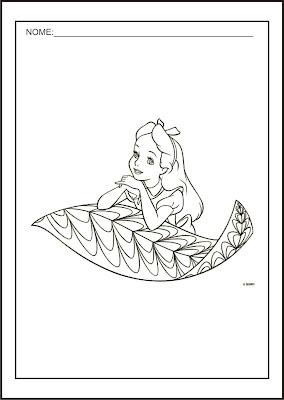 Princesas Disney - Desenhos para Colorir das Princesas Disney - Alice