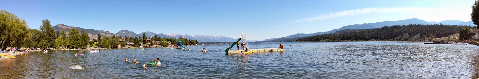 Panorama of Windermere Lake in Invermere, BC