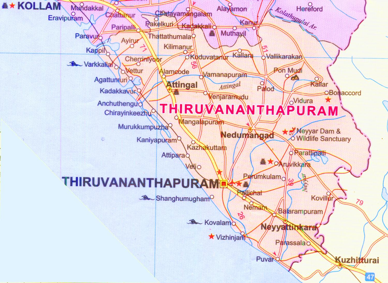 Thiruvananthapuram India  city images : Some of the popular places in trivandrum are listed below,