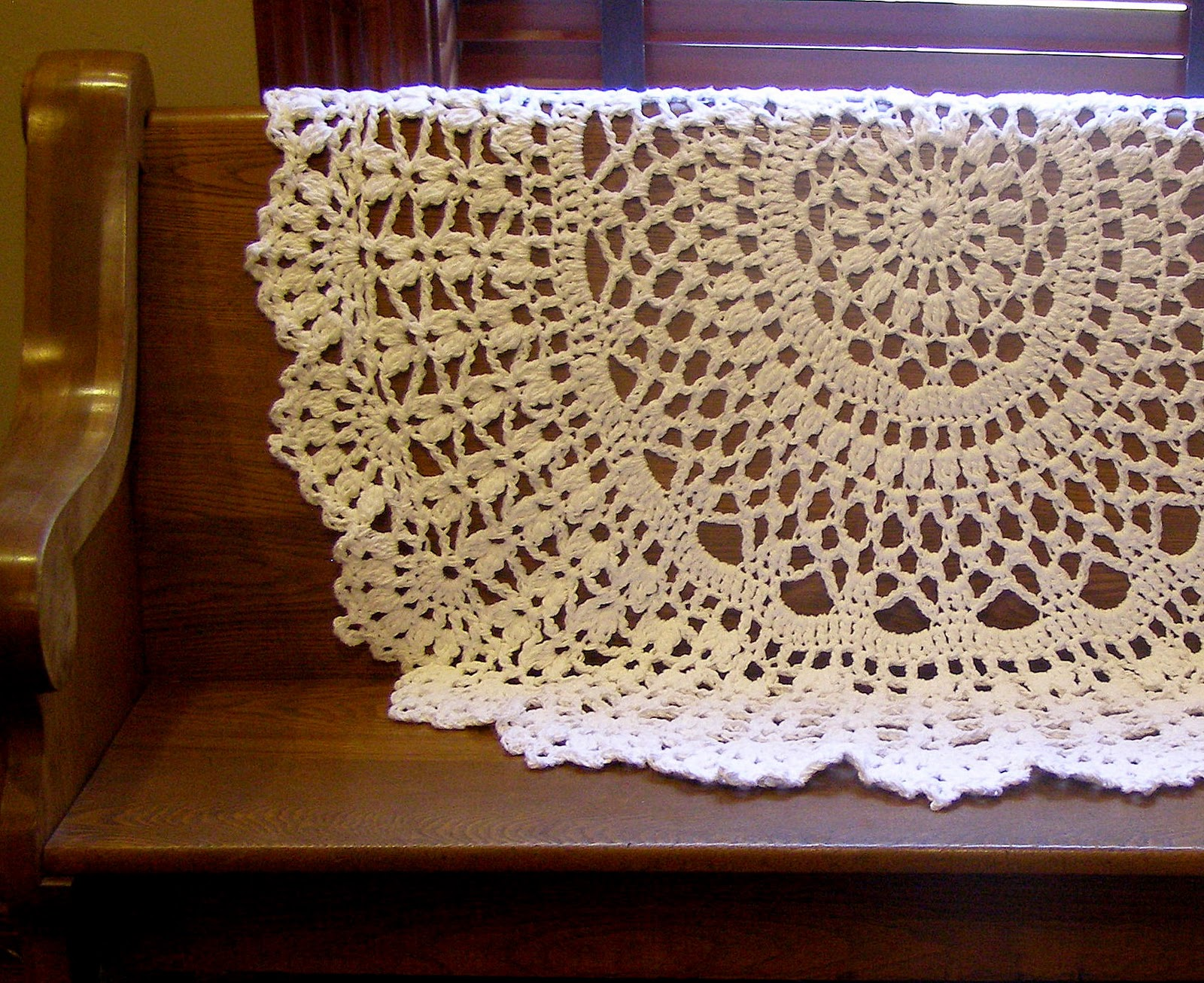 Crocheting Rugs : Crocheted Rug Doily Coverlet Afghan?