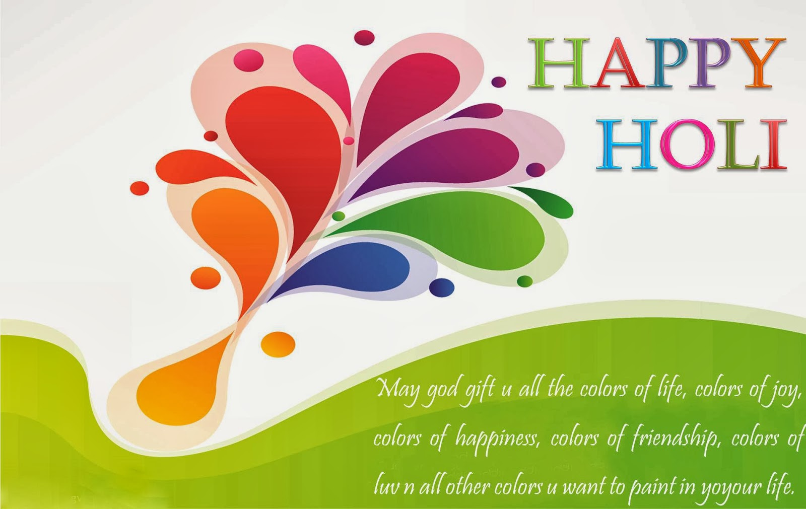 Happy holi HD wishes card cover photos