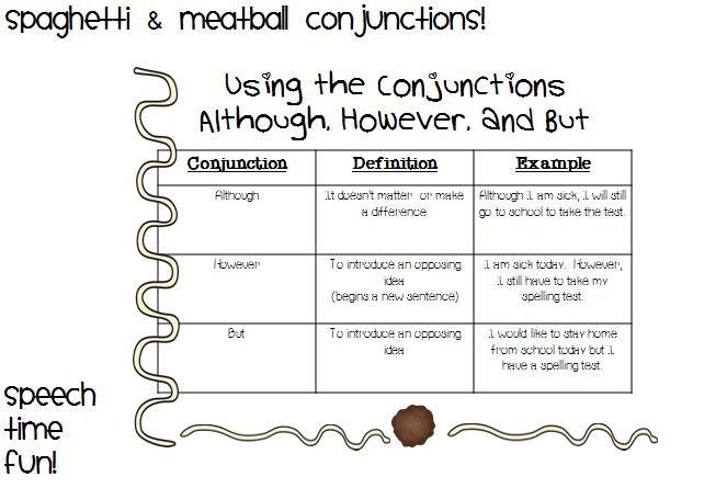 Conjunction Sentences -cloze sentence card game: