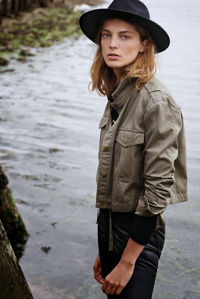 Daria Werbowy stars for Mango's Fall 2014 Lookbook