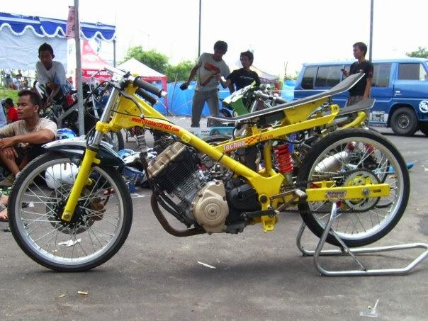 Kumpulan Foto Modifikasi Motor Drag Keren Terbaru 2014