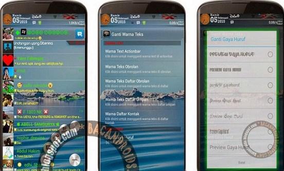 BBM Mod Transparant V2.6.0.30 Change Font Style Apk