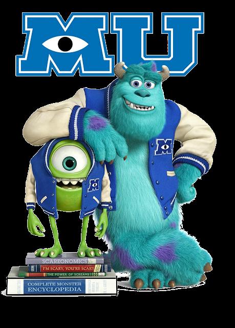 Monstros a Universidade Mike e Sulley desenho colorido com fundo transparente