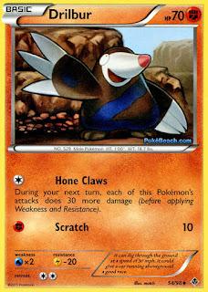 Drilbur Emerging Powers Pokemon Card