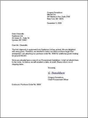 Goresan Item Kind Of Business Letters Order Letter