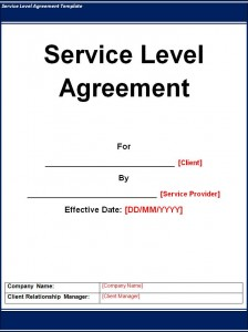 Write service level agreement template - Mighty Peace Golf Club