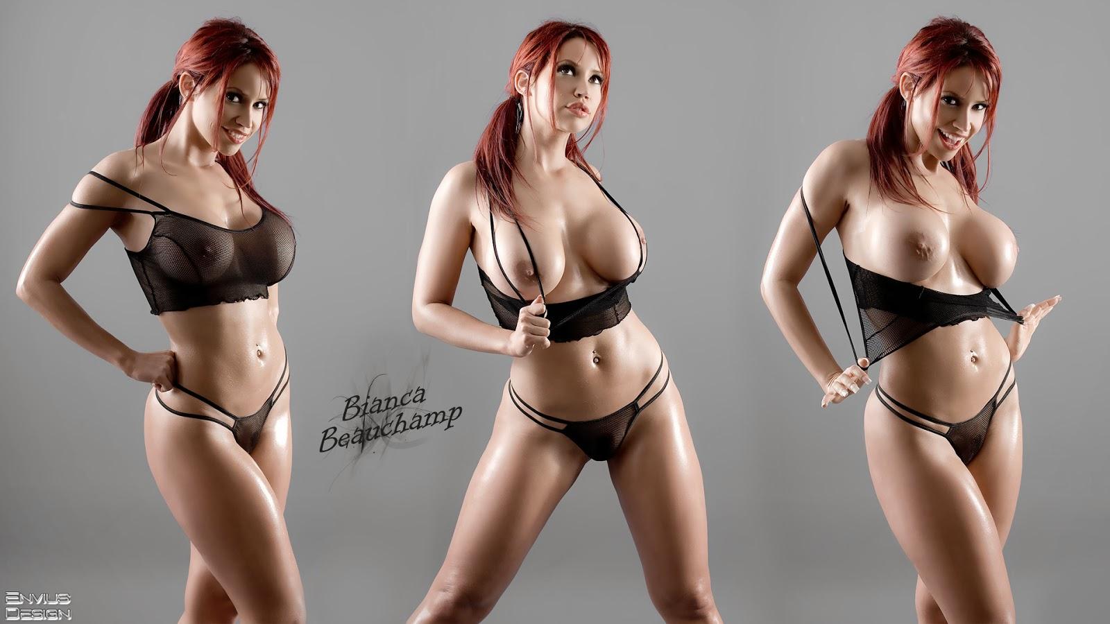 Bianca Beauchamp Erotic Red Head Wallpaper
