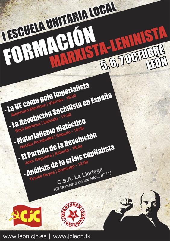 [UJCE y CJC León] I Escuela Unitaria Local de Formación Comunista Escueladefinitivo