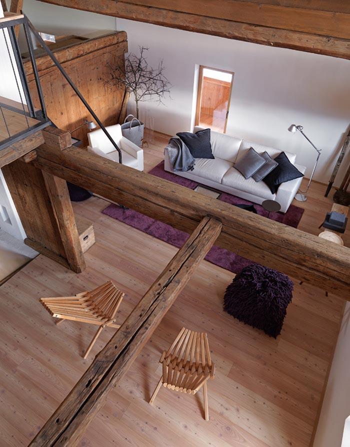 una casa rustica moderna - salon