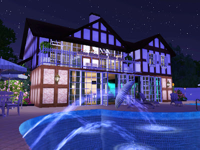 blue mermaid swimming pool sims 3