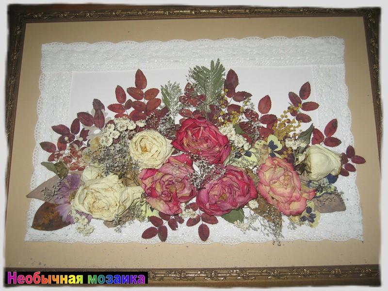 Панно из сухих цветов своими руками фото 10