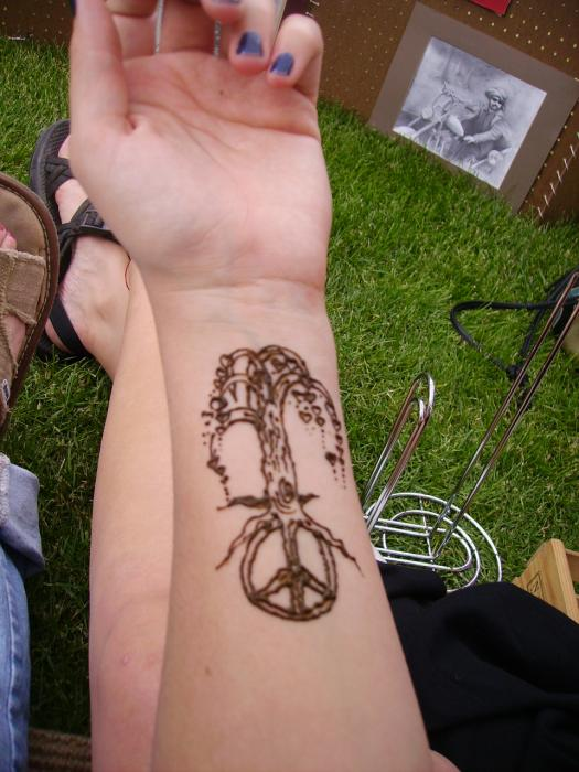 peace tattoo