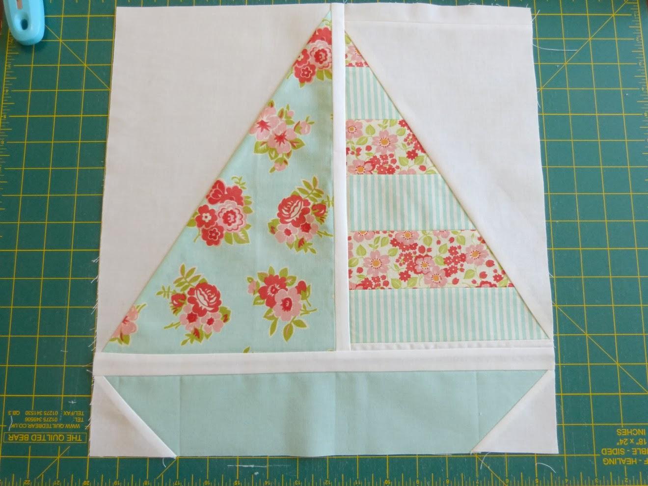 Pretty Little Quilts: Summer Beach Quilt Tutorial - Part IV ... : sailboat quilt pattern - Adamdwight.com