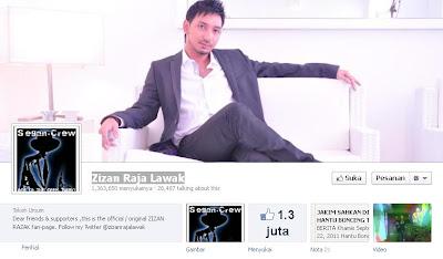 facebook fanpage Zizan kena hacker raja lawak