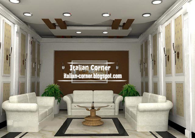 living room gypsum ceiling design, Italian false ceiling, suspended