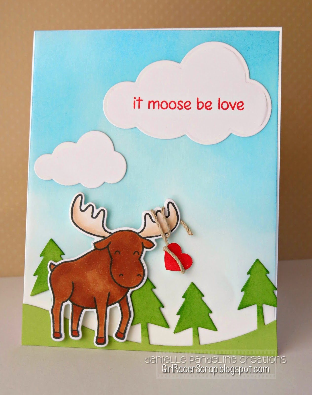 It Moose Be Love | Featuring Lawn Fawn & MFT | Created by Danielle Pandeline