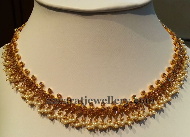 Elegant Uncut Diamond Necklace - Jewellery Designs