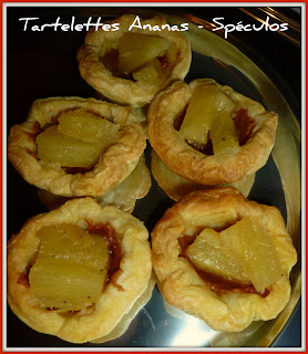 image Minis tartelettes Ananas - Spéculos crunchy