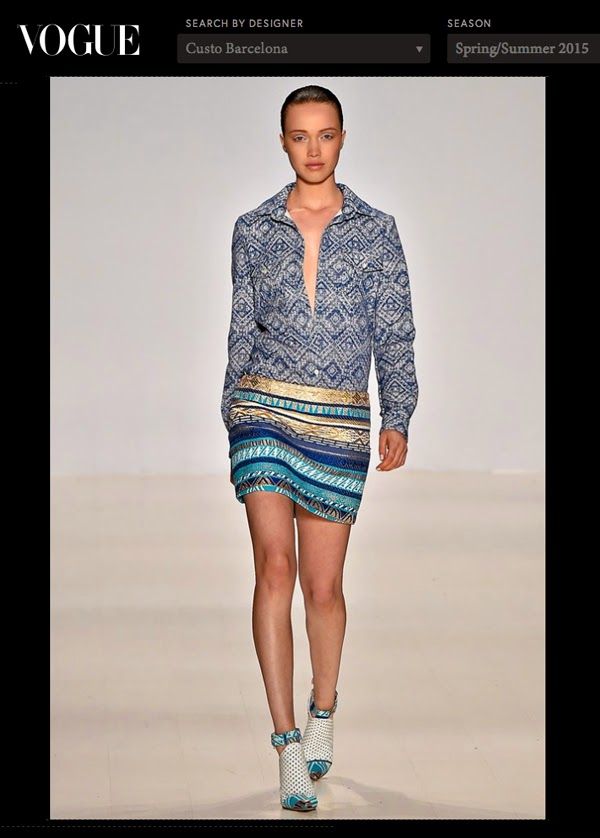 Haley Sutton - Custo Barcelona NYFT SS 2015 - Vogue UK - Cast Images