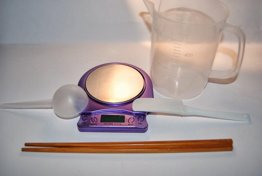Utensilios preparación crema corporal - Dazanatura