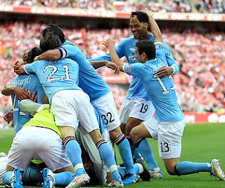 Manchester City'nin gol sevinci. Fotoğraf: καρλο [ AKA Gilyo]