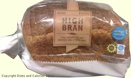 Diets And Calories High Bran Wholemeal Bread M Amp S Update