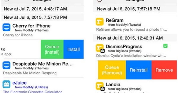 How to Remove / Install Cydia Tweaks with a Single Swipe