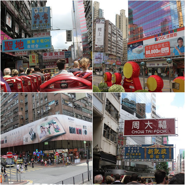 Street advertising can be seen everywhere on the buildings and signages in Hong Kong